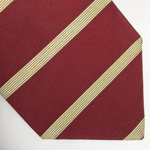 Brooks Brothers Burgundy Silk Stripe Tie